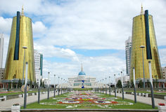 The governmental complex in Astana. Recently constructed, modern complex of the governmental buildings, in new capital of Kazakhstan Stock Photo