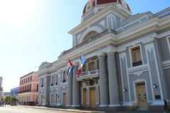 Governmental palace at the Jose Marti square in Cienfuegos, Cuba stock photos