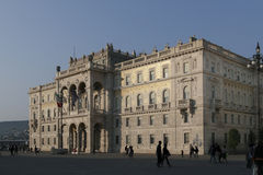 Governmental palace on the main square of Triest. Italy Stock Image