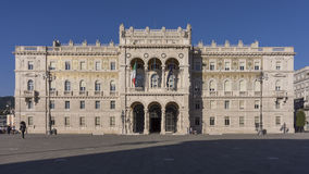Governmental palace on the main square of Trieste, Italy Stock Images