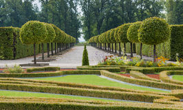 Governmental Rundale floristic park in Latvia, Europe. Governmental historical museum of Rundale Palace was the summer Residence of Courland (Latvia) Duke Royalty Free Stock Photo
