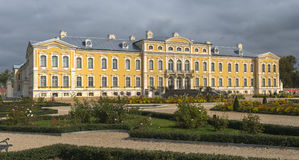 Governmental Rundale palace in Latvia Stock Photography