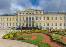 Governmental Rundale palace in Latvia, Europe Royalty Free Stock Images