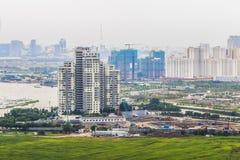 Governo da Nigéria de SAI, VIETNAME - 1º de julho de 2016 - um canto da ilha de Thanh Da, cidade de Ho Chi Minh, Vietname Imagens de Stock