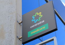 Governo dell'australiano di Centrelink Immagini Stock Libere da Diritti