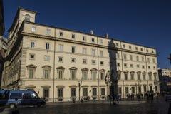 Governo Italia di Roma del palazzo di Chigi Fotografie Stock