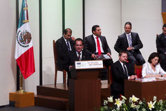 The governor of Aguascalientes, Carlos Lozano Stock Photo