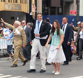Governor Andrew Cuomo. Governor Andrew Cuomo marching Royalty Free Stock Photography