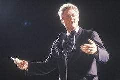 Governor Bill Clinton addresses a crowd at a Texas campaign rally in 1992 on his final day of campaigning in Ft. Worth, Texas Royalty Free Stock Photos