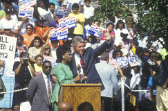 Governor Bill Clinton and Congresswoman Maxine Waters at the Maxine Waters Employment Preparation Center in 1992 in So. Central, L Royalty Free Stock Images