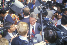 Governor Bill Clinton greets the crowd on Mexican Independence Day during a 1992 campaign rally in Baldwin Park, LA Stock Image