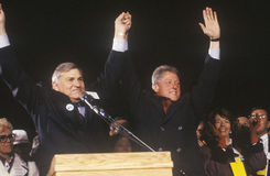 Governor Bill Clinton at a New Mexico campaign rally in 1992 on his final day of campaigning, Albuquerque, New Mexico Stock Image