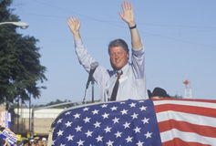 Governor Bill Clinton and right hand man Senator Al Gore wave to supporters at the County Court House during the Clinton/Gore 1992 Stock Image