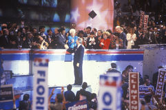 Governor Bill Clinton's nomination speech Stock Photos