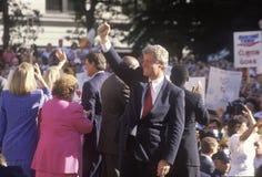 Governor Bill Clinton and Senator Al Gore on the 1992 Buscapade campaign tour in Cleveland, Ohio Stock Images