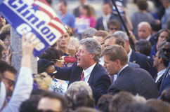 Governor Bill Clinton shakes hands on the 1992 Buscapade campaign kick off tour in Cleveland, Ohio Royalty Free Stock Photos
