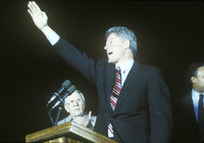 Governor Bill Clinton speaks at a Kentucky campaign rally in 1992 on his final day of campaigning in Paducah, Kentucky Royalty Free Stock Photos