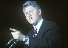 Governor Bill Clinton speaks at a Kentucky campaign rally in 1992 on his final day of campaigning in Paducah, Kentucky Royalty Free Stock Images