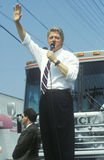Governor Bill Clinton speaks in Ohio during the Clinton/Gore 1992 Buscapade campaign tour in Parma, Ohio Stock Images