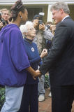 Governor Bill Clinton stops to meet with supporters on way to Governors Mansion on Election Day Nov. 3 of 1992 in Little Rock, Ark Stock Image
