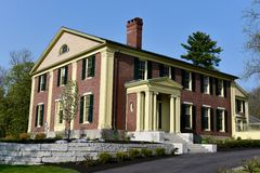 Governor Cony House. This is aSpring picture of theGovernor Samuel Coney House located inAugusta, Maine.  The house was designed by Alexander Jackson Davis House Stock Photos