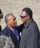 Governor Deval Patrick meets Reverend Jesse Jackson Royalty Free Stock Photo