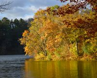 Governor Dodge State Park in Fall stock image