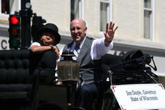Governor Doyle in Great Circus Parade Waving Stock Photography