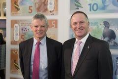 Governor Graeme Wheeler and Prime Minister John Key Stock Photography