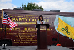 Governor Haley at Tea Party Express Rally stock image
