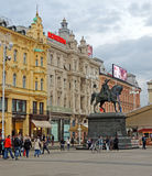 Governor Jelacic Square Royalty Free Stock Photography