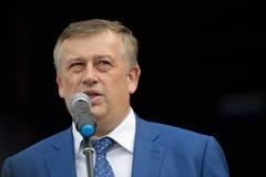 Governor of Leningrad oblast Alexander Drozdenko Royalty Free Stock Photo