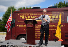Governor Roemer at the Tea Party Express Rally Royalty Free Stock Photography