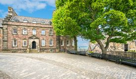 The Governor`s House in Edinburgh Castle. Scotland. Stock Photos