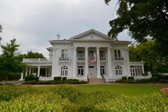 Governor's Mansion. This is a Summer picture of the Alabama's Governor's Mansion, located in Montgomery, Alabama Royalty Free Stock Photography