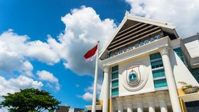 Governor`s Office of West Sulawesi in Indonesia royalty free stock photos