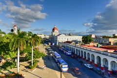 Governor`s Palace - Cienfuegos, Cuba. Cienfuegos, Cuba - January 11, 2017: Governor`s Palace along the Plaza de Armas in Cienfuegos, Cuba Stock Images