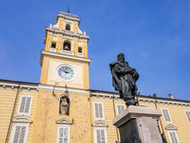 Governor`s palace in Garibaldi square, Parma, Italy Royalty Free Stock Photo