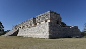 Governor`s Palace. This is a picture of the iconic Governor`s Palace located in the Uxmal Archeological Zone in Uxmal Mexico. This building is considered one of Royalty Free Stock Photography