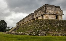 Governor`s Palace ruins in Uxmal royalty free stock image