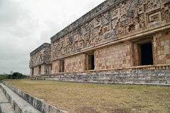 The Governor's Palace at Uxmal Stock Image