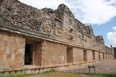 Governor`s Palace at Uxmal, Mexico royalty free stock photo