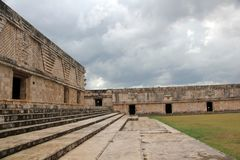 Governor`s Palace at Uxmal, Mexico Royalty Free Stock Image