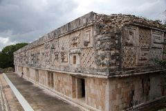 Governor`s Palace at Uxmal, Mexico Royalty Free Stock Images