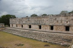 Governor`s Palace at Uxmal, Mexico stock photo