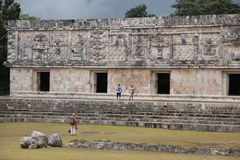 Governor`s Palace at Uxmal, Mexico Royalty Free Stock Photos