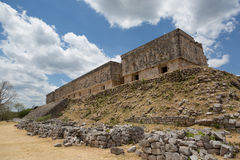 The Governor's Palace in Uxmal,Yucatan, Mexico Stock Image
