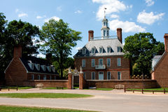Governor's Palace Williamsburg. The Governor's Palace in Colonial Williamsburg, Virginia. A brick Colonial house with a courtyard, and former home of Thomas Royalty Free Stock Image