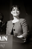 Governor Sarah Palin B&W Royalty Free Stock Photos