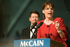 Governor Sarah Palin Horizontal Stock Photography